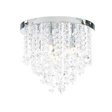 6 Light Bathroom Chandelier Ceiling Lighting Lampshade Ohio 33cm Iris Flush IP44