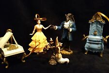 Disney Live Action Beauty and the Beast Christmas Ornament set Belle, Beast