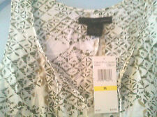 ~CALVIN KLEIN JEANS~ NWT@$49.50~ TUNIC ~HIGH~LOW HEMLINE~ADORNED WITH ORNATE TIE