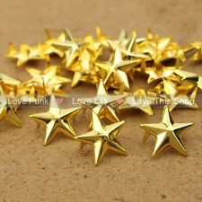 100pcs 15mm DIY Golden Star Rivet Punk Bag Belt Leathercraft Bracelets Clothes