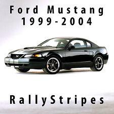 Ford Mustang GT Rally Racing Stripes 99-2004 Decal Set Precut + Side Bars bonus