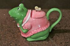 """Mrs Frog Teapots by Otagiri & music box in one, Plays """"You are my sunshine"""""""