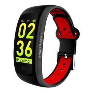 Fitness Tracker Sports Running Smart Bracelet Heart Rate Touch Screen Wrist Band