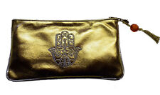 Moroccan Faux Leather Handbag Pouch Purse Women Make Up Clutch Wallet MED Gold
