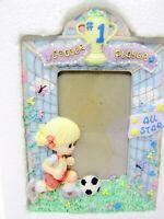 Precious Moments 316555 Girl Soccer Player Photo Frame 1997