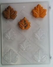 OAK MAPLE LEAF CLEAR PLASTIC CHOCOLATE CANDY MOLD AO126