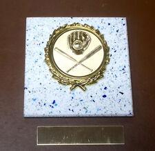 BASEBALL -SOFTBALL- New Plaque Title AWARD-GIFT w/Gold Wreath + Insert FAST SHIP