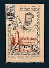 carte  1er jour   journée du timbre   Saint Etienne    1946