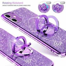 iPhone 11 Case Glitter Luxury Diamond Rhinestone Funcy Ring Grip Girly Purple