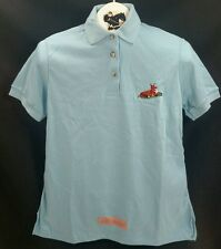 Reed Hill Polo Shirt Light Blue juniors large fox design