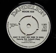 "Medicine Head - Coast To Coast 7"" Single 1970 1st UK Press Dandelion John Peel"