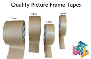 25mm 38mm 50mm 75mm Eco Kraft Paper Picture Framing Backing Tape Self Adhesive