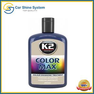 Car Paint K2 COLOR MAX APPLICATOR Cover Scratches Dark Blue QUICK POLISH