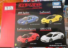Tomica Ferrari set La Ferrari, La Ferrari Aperta, 488 GTS, 488 GTB NEW