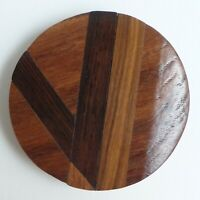 Bouton ancien - Bois - Marquèterie - 53 mm -  Marquetry Wood Button