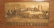 Vintage Czech Jindrichuv Hradec Cityscape wall decor plaque