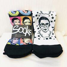 New 2 Pairs Ruth Bader Ginsburg Socks US Size 7-13 Socks 1 Still in Packaging