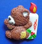 Enesco Morehead PIN Christmas Vintage RAG TAG TEDDIES Bear JOY CANDLE Holiday