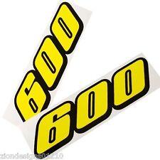 600 GSXR SRAD autocollants pour Moto personnalisé graphiques x 2 jaune