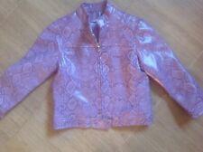 George Asda Girls Faux Leather Purple Snake Skin Jacket Age 4/5 Yrs Read