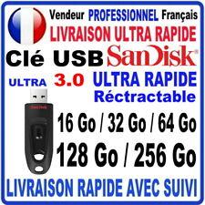 Clé USB 16Go 32Go 64Go 128Go 256Go SANDISK ULTRA 3.0 Haute Performance