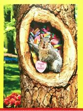 """New ListingAvanti ~ """"Love You"""" Happy Valentines Day! Greeting Card Squirrel Candy Heart"""
