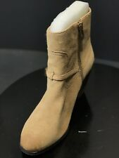 767adb35e55 New Vince Camuto GREGGER Beige Suede Ankle Women Booties Size US 6.5   EU  36.5