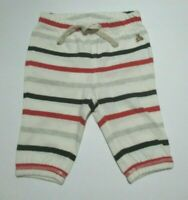 NEW NWT INFANT BOYS GIRLS BABY GAP RED GRAY BLACK STRIPED PANTS SIZE 0-3 MONTHS