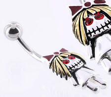 "14g 7/16"" Zombie Girl Steel Belly Button Ring"