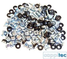 "PACK OF 50 HIFI AUDIO MUSIC RACK MOUNT M6 CAGE NUTS BOLTS WASHERS FOR 19"" RACKS"