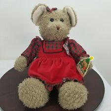 "Vintage 1994 Christopher & Holly Christmas Bear Plush Toys R Us Girl Holly 18"""