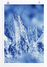 60x90cm Künstlerische Fotografie – Blaue Eiszapfen