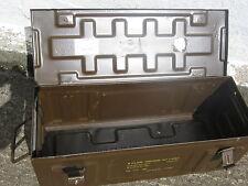 British Army Surplus Large Brown Metal Ammo Box