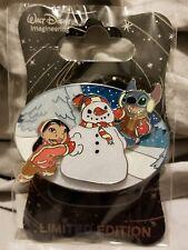 Disney D23 WDI MOG Pin Lilo & Stitch Snowman Holiday Winter Christmas Pin LE250