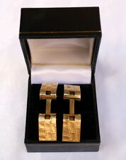 MAGNIFICENT FRENCH 18K GOLD PAIR OF CUFFLINKS BY CARVIN 'SIGNED'