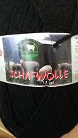 (7,90 €/100g): 150 g Schafpate Schafwolle, schwarz, Wanderschäferei d. Alb #4041