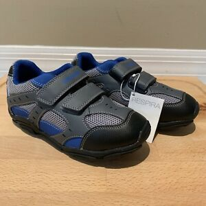 GEOX Boys Blue Grey Easy-Tie Sneakers Athletic Shoes Size 13 US / 31 EUR