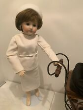Repro French German Mildred Seeley Doll 16� Fully Jointed Darling Nurse Nanny