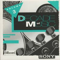 Sony/Billboard: Decade Of Music Volume 3 by Various Artist (Cd 1992)