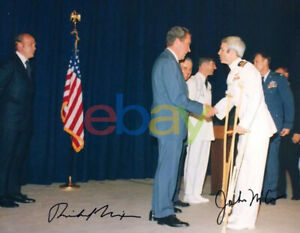 John McCain Richard Nixon Signed 8x10 Autographed Photo reprint