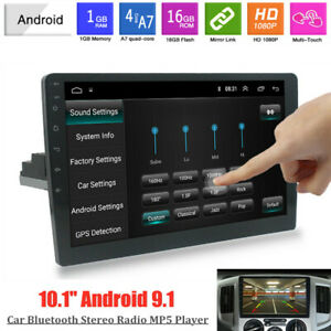 """10.1"""" 1DIN Android 9.1 WiFi/3G/4G Bluetooth GPS USB Car Stereo Radio MP5 Player"""