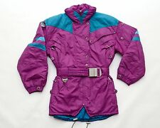 Vintage 90s SPYDER Womens Ski Winter Jacket Belted Thinsulate Purple Size 8 / 38