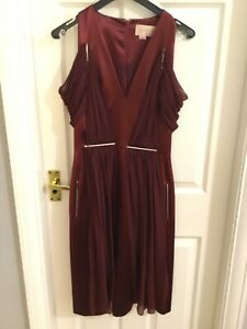 christopher kane dress designer runway size 8 worn once berry colour £1000