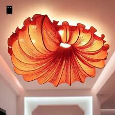 Red Fabric Conch LED Ceiling Light Fixture Art Lamp for Bedroom Designer 70cm