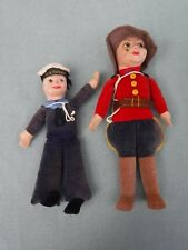 2 Norah Wellings Cloth Dolls SS Ocean & Canadian Mountie
