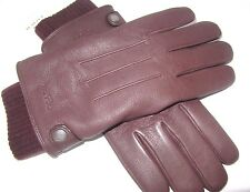 Coach Man's Mahogany Leather Warm 3 In 1 Gloves Size Medium F54183 NWT $200