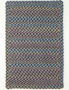 Woodstock Spacedyed Multi Soft Durable Country Cabin Braided Rug Indigo WO11