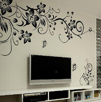 Removable Flowers Mural Wall Sticker Decal Home Living Room Decor Vinyl Art New