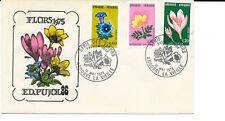 D140/ ANDORRE FDC  Enveloppe Premier Jour gentiane, anémone, colchique, fleurs