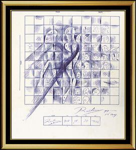 Noel Rockmore Authentic Ink Drawing Original Hand Signed Rare Portrait Artwork